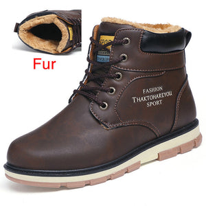 DEKABR Brand Hot Newest Keep Warm Winter Boots Men High Quality pu Leather Wear Resisting Casual Shoes Working Fashion Men Boots