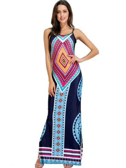 Split Backless Women's Maxi Dress