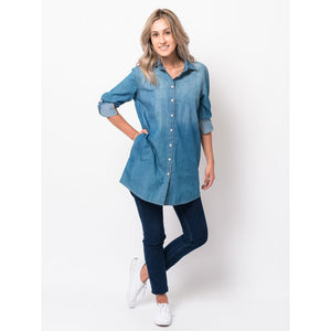 Fall Denim Pocket Tunic