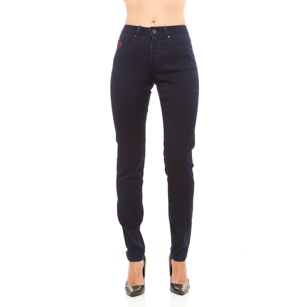 Red Jeans Women's Riley Mid-Rise Skinny Soft Denim Jeans