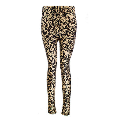 Soft Touch Baroque Pattern Leggings