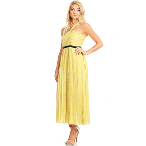 81353-Mustard, chiffon maxi dress