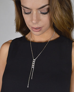 Crystal Studded Rolo Chain Necklace