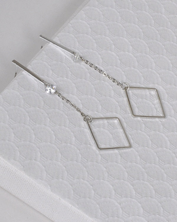Diamond Drop Shape Earrings