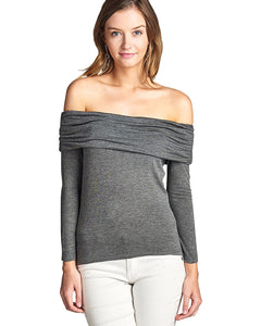 Form fitting soft knit top