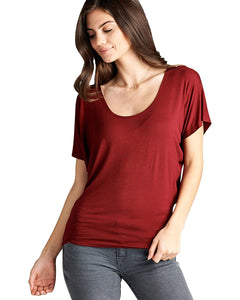 Relaxed fit round neckline top