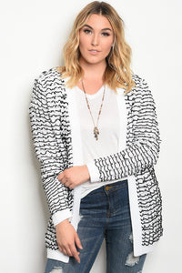 Plus size chunky knit cardigan