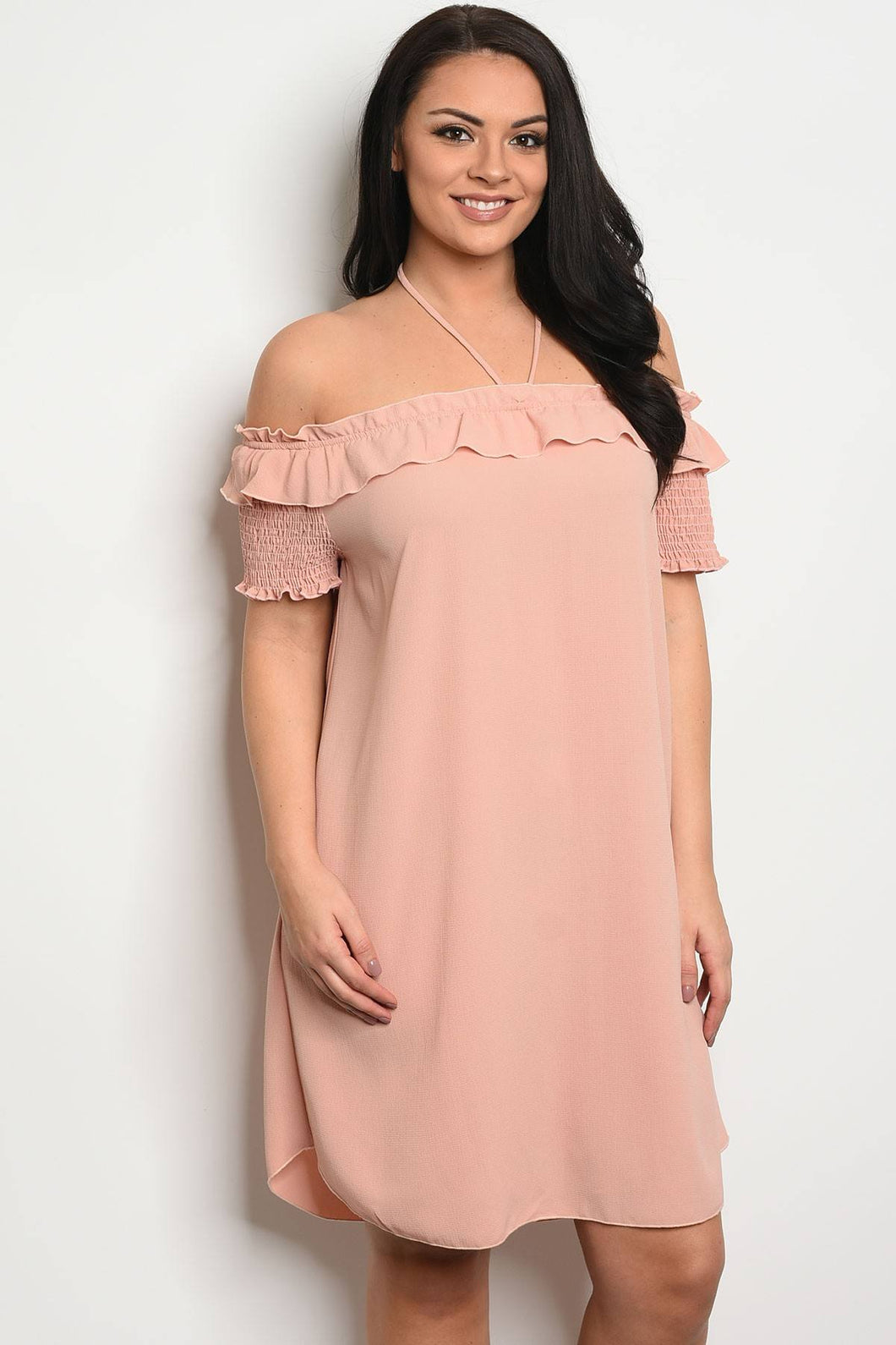 Ladies fashion plus size off the shoulder dress