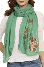 Ladies fashion sequined flower pattern scarf