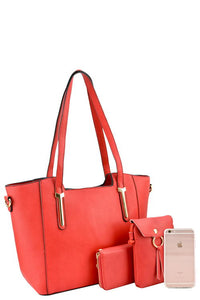 Ladies fashion designer 3 in 1 handbag set