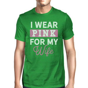 I Wear Pink For My Wife Mens Shirt