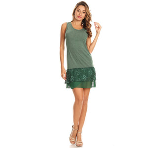 Y100-Green, knit dress