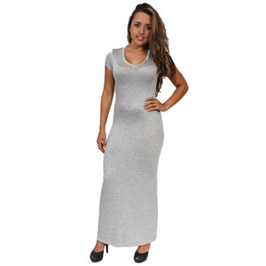 Gorgeous Women's Maxi Dress Short Sleeve V-Neck Made in the USA