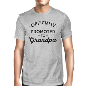 Officially Promoted To Grandpa Mens Grey Shirt