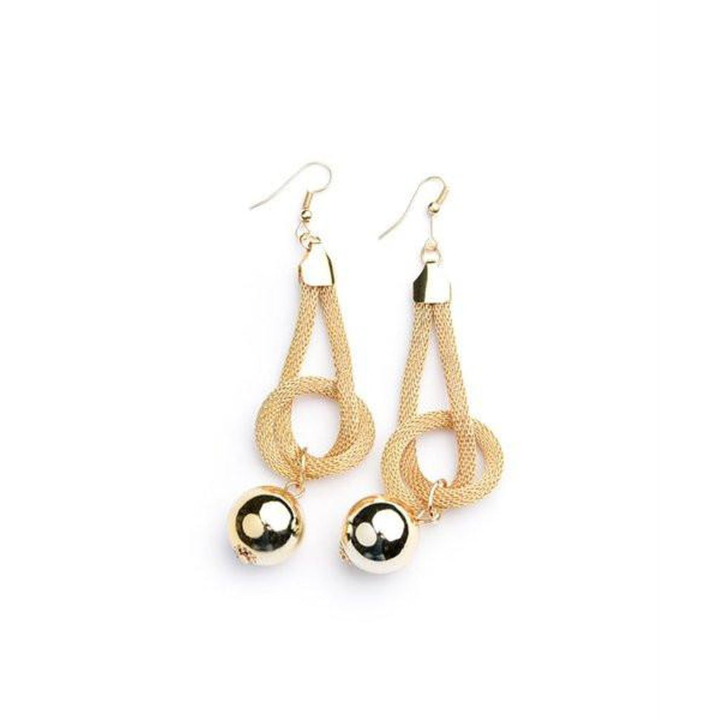 Women's Earring Drop With Dangle Gold Pearl Earrings