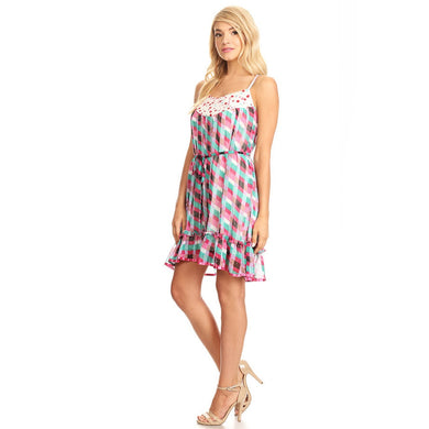 81252-Multi, chiffon print dress