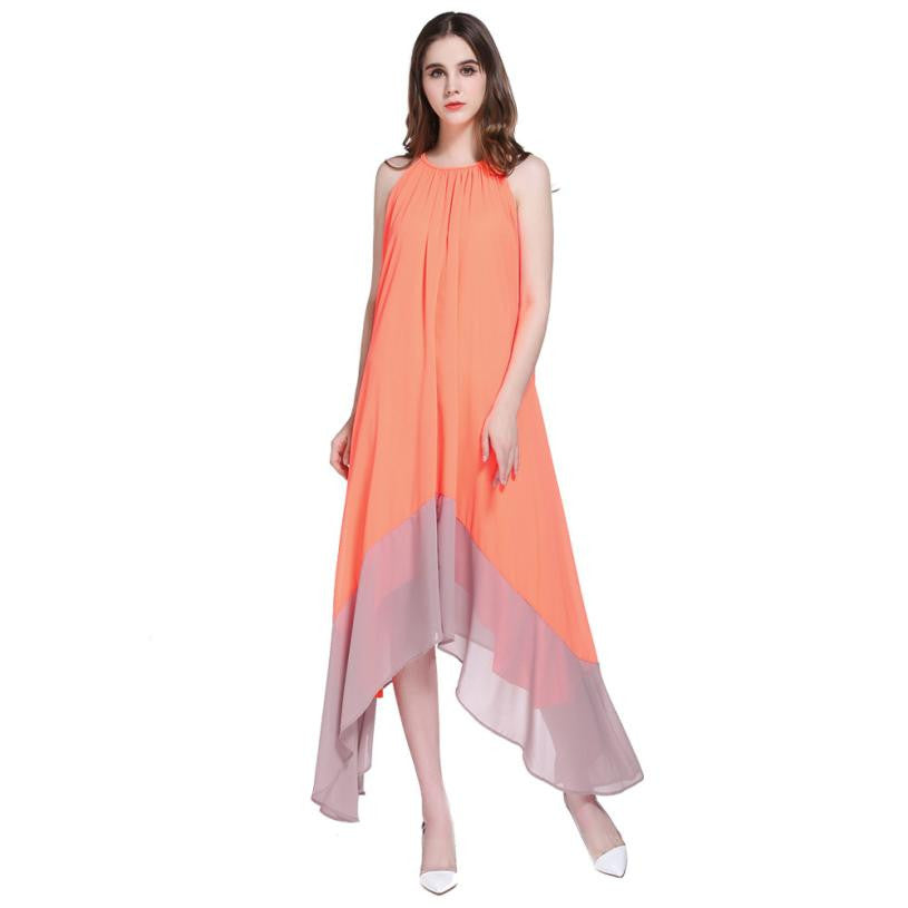 JECKSION Summer Women Long Dress 2016 Fashion Boho Maxi Lady Dresses Sexy Party Beach Dresses Chiffon Dress #LSIW