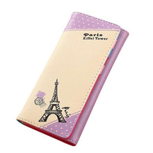 Xiniu women wallets women's handbags small clutch Paris Eiffel Tower Hasp Coin Purse  carteira feminina couro #EL