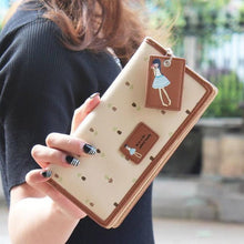 2015 New Fashion  womens wallets and purses Lady Women PU leather Long Purse Clutch Wallet  with Card Holder portefeuilles #Y5