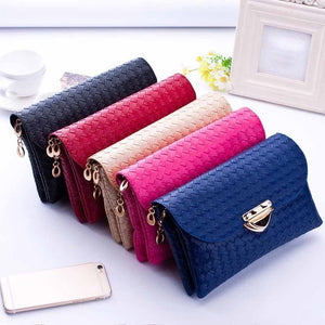 Handbags Casual Women Weave Pattern Wallet Shoulder Messenger Bag Luxury Solid Handbag Zipper Versatile Bags para mujer
