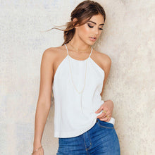 2017 Summer Chiffon Lace Back Gallus Women Camis Tank Top Summer Sexy fashion solid vadim
