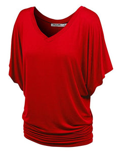 Womens Boat Neck Dolman Top