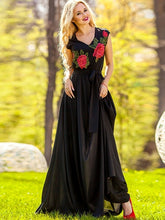Sleeveless Embroidery Women's Maxi Dress