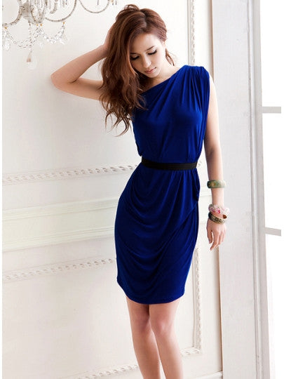 Comfortable One Shoulder Sheath Dress