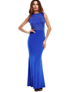 Sleeveless Bodycon Women's Maxi Dress