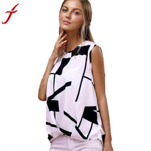 Women's Fashion Printing Tank Top Summer Sexy Halter Top Sleeveless Elegant Women Ladies Office Blouses #LSW