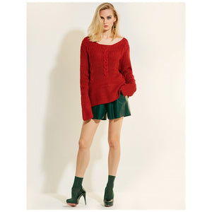Full Sleeves Brick Red Blouse