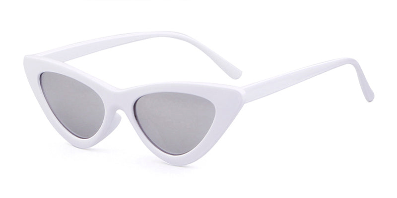 LOLITA Sunnies - White + Mirrorized Glass
