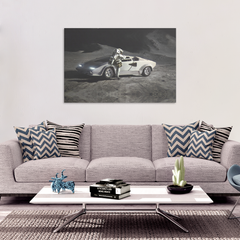 MOON LAMBO ON CANVAS - FUD Clothing Cryptocurrency Apparel