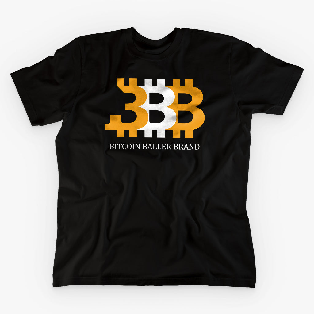 BITCOIN BALLER BRAND · BLACK T-SHIRT - FUD Clothing Cryptocurrency Apparel
