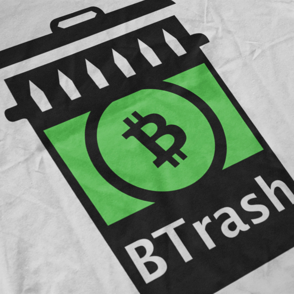 BTRASH WHITE T-SHIRT - FUD Clothing Cryptocurrency Apparel