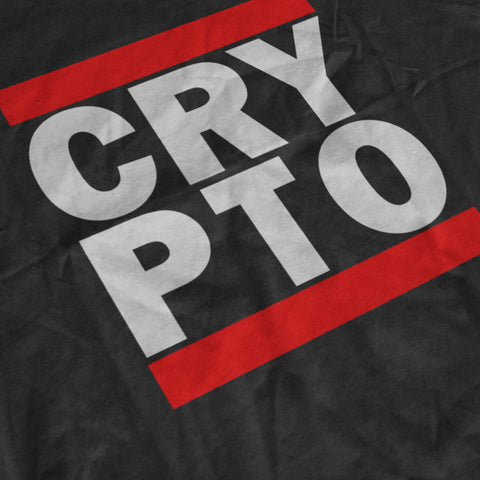 CRYPTO · BLACK T-SHIRT - FUD Clothing Cryptocurrency Apparel