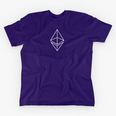 ETHEREUM HOLLOW LOGO T-SHIRT - FUD Clothing Cryptocurrency Apparel