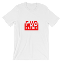 FUD Naton Split Red Box T-Shirt - FUD Clothing Cryptocurrency Apparel