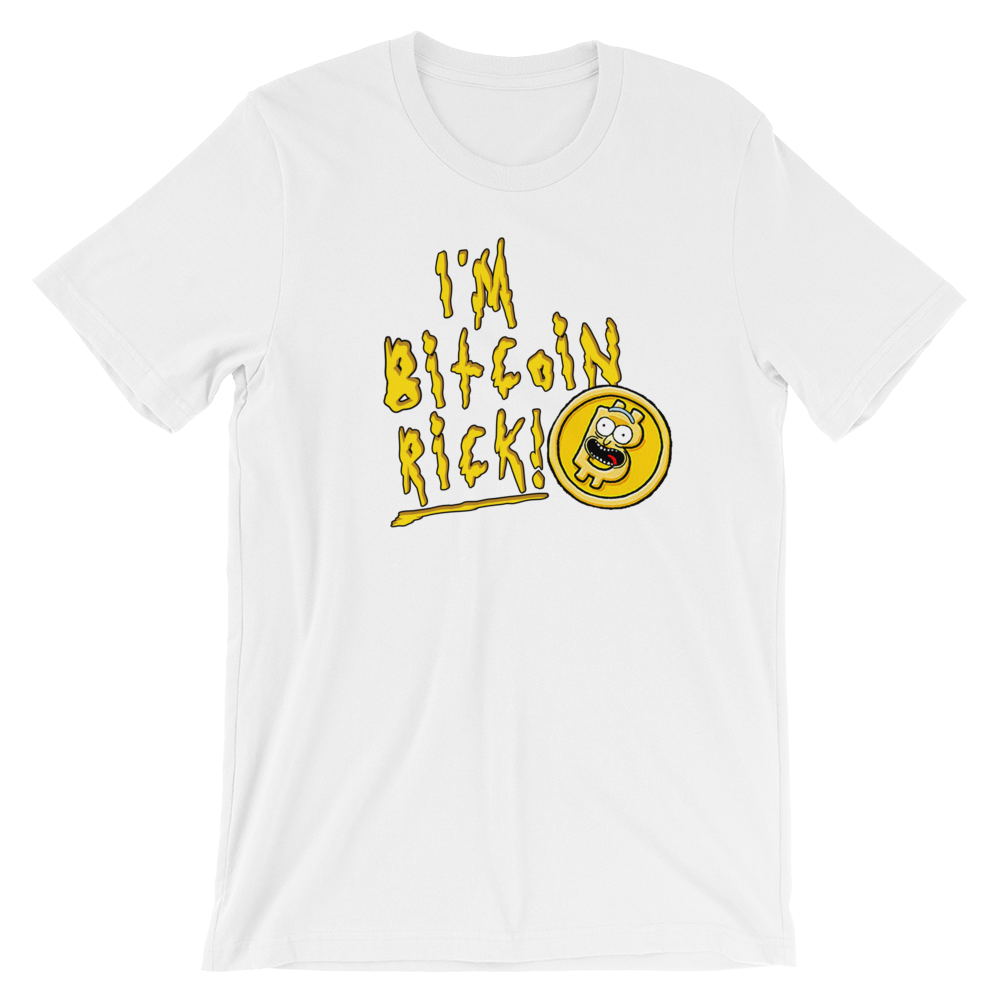 I'M BITCOIN RICK! T-SHIRT - FUD Clothing Cryptocurrency Apparel