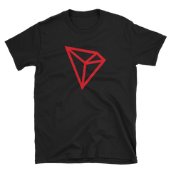 TRON RED LOGO T-SHIRT - FUD Clothing Cryptocurrency Apparel