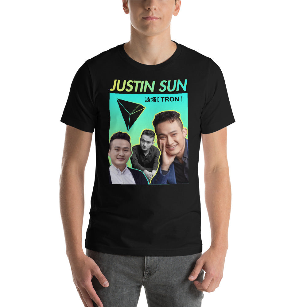 JUSTIN SUN HOMAGE TEE | TRON TRX T-SHIRT - FUD Clothing Cryptocurrency Apparel