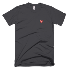 BITCOIN PIXEL HEART EMBROIDERED T-SHIRT - FUD Clothing Cryptocurrency Apparel