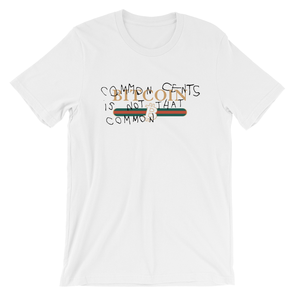 BITCOIN COMMON CENTS T-SHIRT - FUD Clothing Cryptocurrency Apparel