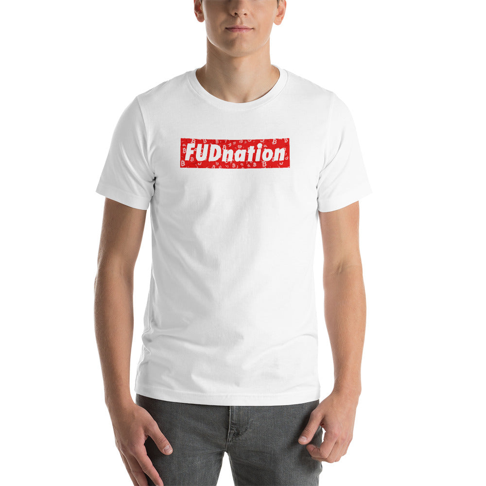 FUD Nation Red Box T-Shirt - FUD Clothing Cryptocurrency Apparel