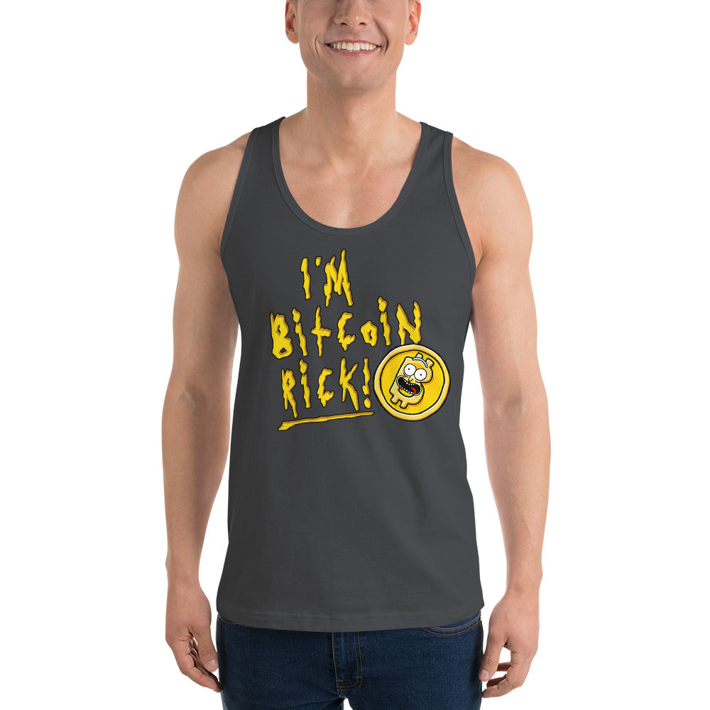 I'M BITCOIN RICK! TANK TOP - FUD Clothing Cryptocurrency Apparel