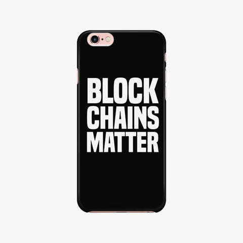 BLOCKCHAINS MATTER iPHONE 7/7S PHONE CASE - FUD Clothing Cryptocurrency Apparel