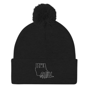 Ghost Mode Pom Hat, , Accessories - Iowa Chill