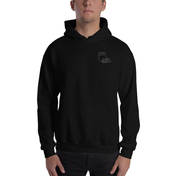 Ghost Mode Embroidered Hoodie, , sweatshirts - Iowa Chill