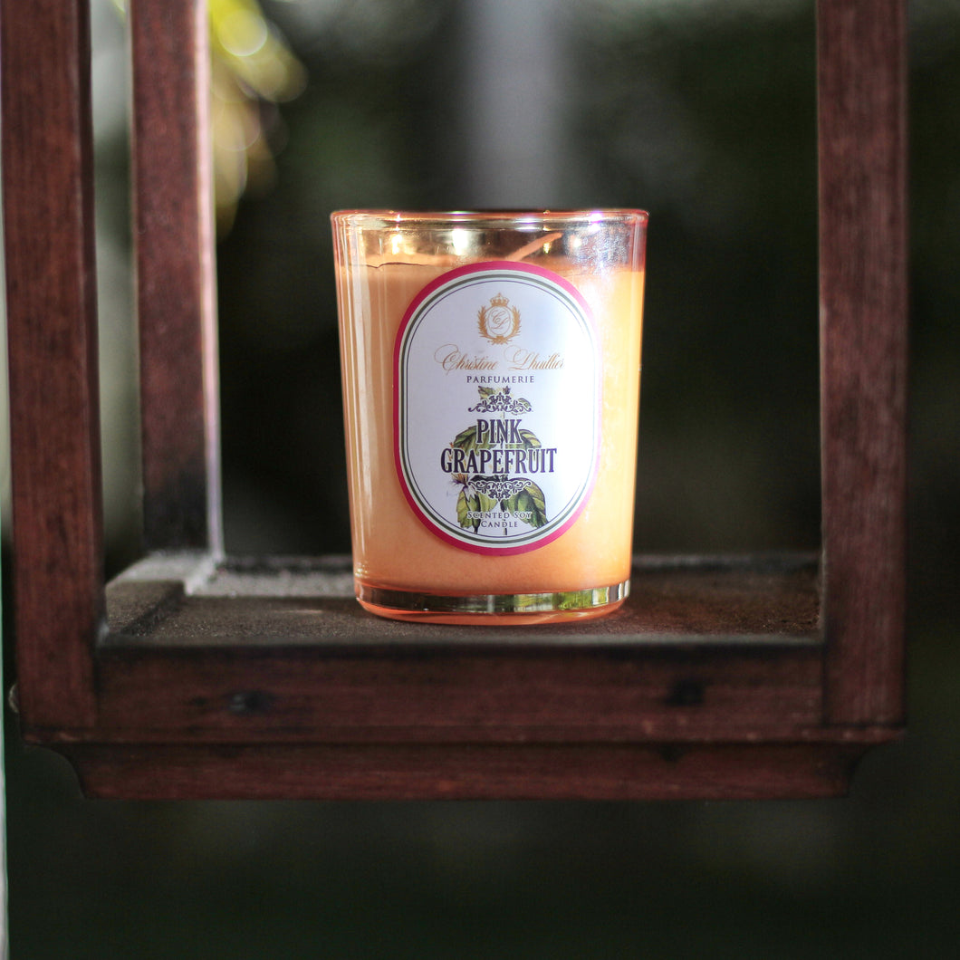 Scented Soy Candle Pink Grapefruit
