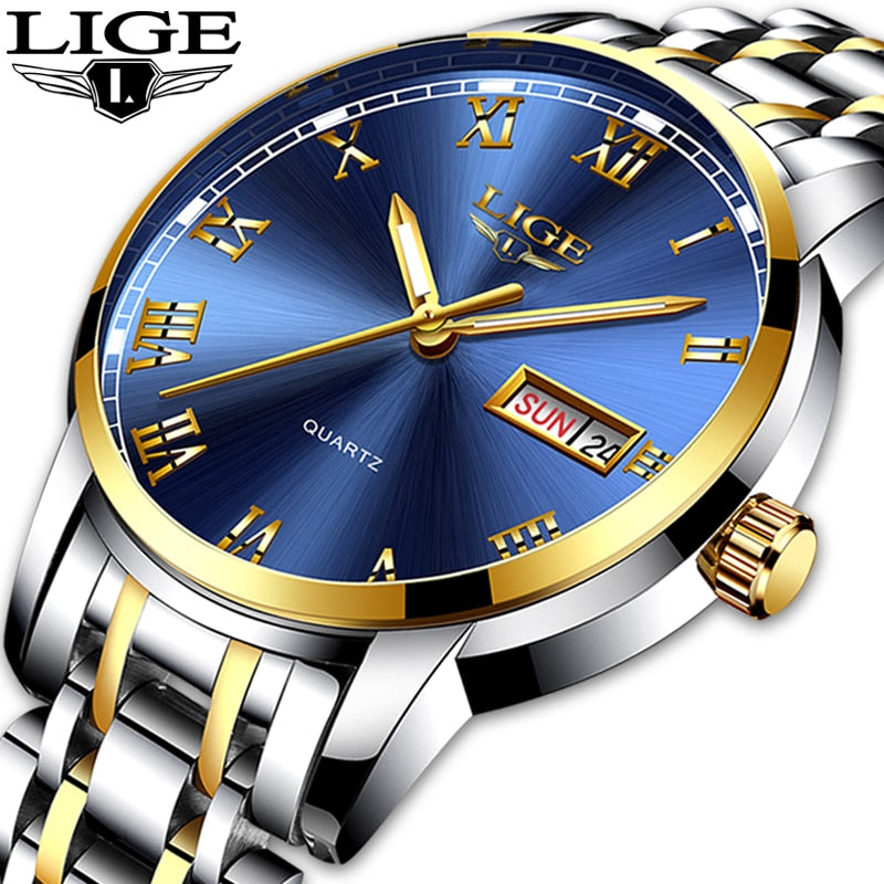 LIGE  Luxury Series Day/Date Watch